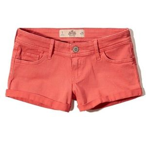 Hollister Low Rise Short Shorts - Coral NWT